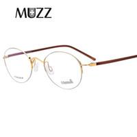 титановые очки оптовых-Чистый титан очки кадр сверхлегкий женщины полу оправы рецепт очки близорукость очки мужская половина оптические рамки