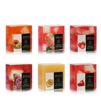 Wholesale tools for cleaning resale online - Women Fruit Handmade Soap Oil Control Moisturizing Fruit Essential Oil Soap Lady Face Cleaning Soap Girl Beauty Makeup Tool RRA980