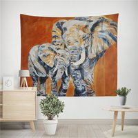 Wholesale bedroom painting portraits resale online - Tapestry wall hanging Colorful painting Elephant for Living Room Bedroom Dorm Home