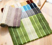 Wholesale colorful rug mats resale online - Colorful Striped Shaggy Carpet For Hallway Striped Area Rug For Bedroom Nordic Carpet For Kitchen Bathroom Floor Mat