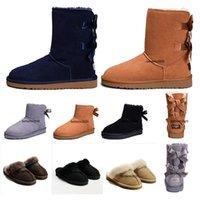 new slippers for winter 도매-2020 새로운 WGG 호주 클래식 눈 부츠면 슬리퍼 저렴한 여성 겨울 부츠 패션 할인 발목 부츠 신발 많은 색상 크기 5-10