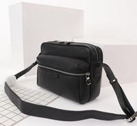 tuval deri omuz toptan satış-YENI Erkek Omuz Çantaları tuval deri Tasarımcılar Messenger Çanta Ünlü Seyahat Çantaları Postacı Kare Çanta Evrak Çantası Crossbody kaliteli 5 renkler