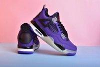 outlet homens sapatos de basquete venda por atacado-Nova Chegada Man Running Shoe Sapatos Pretos Roxos Sapato De Basquete Venda Outlet Com Caixa De Origem