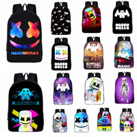 mochilas de niños cool para la escuela al por mayor-24styles Marshmello DJ kids School Bag mochila de estudiante para niñas, adolescentes, niños, mochila fresca, bolso de niños FFA1712