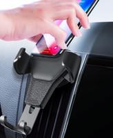 autohalter verpackung großhandel-Universal Autotelefonhalter Air Vent Mount Ständer Für Telefon Im Auto Keine Magnetische Handy Ständer Halter mit kleinpaket heißer verkauf