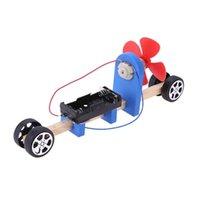 Wholesale race car parts online - Speed Change Racing Wooden Car Kids DIY Electronic Blocks Assembled Toy Aerodynamic Car Kids Student Science Educational Gift