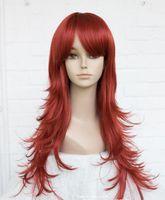 pelucas alicia al por mayor-WIG LL HOT vende moda gratis Red Long Anti-Alice Women Ladies Daily peluca