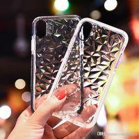 peau d'iphone claire de paillettes achat en gros de-Silicone souple TPU clair couverture en cristal Glitter Fantaisie mignon téléphone cellulaire cas Shell Skin pour iPhone X