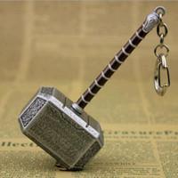 schlüsselhalter ornamente großhandel-Hammer Keychain Hammer Shaped 2 Colors Schlüsselanhänger Gold Silber Farbe Ornament Holder Souvenir Party Favor