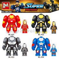 hombre de hierro super héroes bloques de construcción al por mayor-Iron Man With Hulkbuster Infinity War Super Heroes Modelo Building Blocks Enlighten Figura Juguetes para niños Compatible Legoe