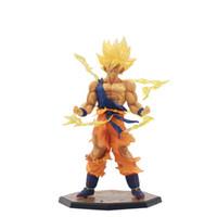 melhor brinquedo de bola de dragão venda por atacado-Alta Toy Qualidade PVC Dragon Ball Son Goku Kakarotto Figuras de Ação boneca para melhores presentes para crianças 17cm