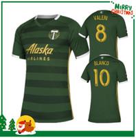 бланко рубашка оптовых-MLS 2019 PORTLAND TIMBERS home green Футболки PORTLAND TIMBERS Футболка на заказ # 10 BLANCO # 8 VALERI футбольная форма