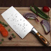 cuchillas chinas al por mayor-Rebanar Cleaver 4Cr13 Super Sharp Hoja de cocina cuchillos del cocinero chino cuchillos forjados de cocina multifunción Cortantes RivetHand