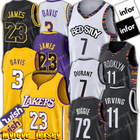 basketball trikot james groihandel-LeBron James 23 Jersey Net Kevin Durant 7 Jersey 11 Kyrie Irving Jerseys Anthony 3 Davis Basketball Jerseys 72 Schwarz Biggie