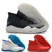 baloncesto kevin durant blue zapatos al por mayor-kevin durant kd 12 Transpirable Zoom XII zapatos de baloncesto para hombre MVP Elite Anniversary University Rojo Negro Verde Azul zapatillas de diseño para hombre zapatos