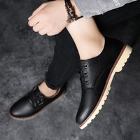 Wholesale comfortable mens dress shoe black resale online - All match Men Fashion Dress Shoes Comfortable Waterproof Mens Leather Office Shoes Formal Autumn Winter Footwear Zapatos DF636