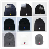 Wholesale beanie for sale for sale - Group buy Good Sale Unisex Spring Winter Hats for Men women Knitted Beanie Wool Hat Man Knit Bonnet Polo Beanie Gorros touca Thicken Warm Cap