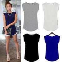 yeni modal kız toptan satış-YENI SıCAK Kız kadın Mürettebat Boyun kısa Kollu T-Shirt Modal Temel Tee Yaz Kadın Gömlek Tops Giysileri