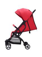 ingrosso carrello elevato per bambino-Happair Baby Trolley pieghevole, facile da sedersi, reclinabile, carrello per bambini, vista alta, passeggino Ombrello cae,