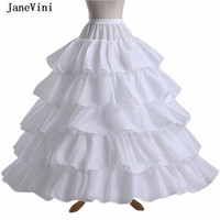 Wholesale black tulle crinoline resale online - JaneVini Hoops Puffy Tulle Ball Gown Crinoline Bridal Petticoats White Underskirt Layers Ruffles Wedding Accessories Jupon Sous Robe New