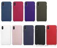 ingrosso copia originale di iphone-Copia Custodia ufficiale in silicone originale per iPhone X Custodia in gomma siliconica liquida per iPhone 7 8 X.