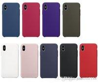 copia original del iphone al por mayor-Copia Funda de silicona oficial original para iPhone X Funda de silicona líquida para iPhone 7 8 X