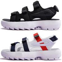 hızlı kuruyan ayakkabılar toptan satış-FILA Lüks Orijinal erkekler kadınlar plaj ayakkabı Yaz Sandalet siyah beyaz kırmızı Anti-kayma Çabuk kuruyan Açık terlik Yumuşak Su Ayakkabı 36-44