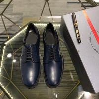 chinelos cor bege venda por atacado-masculinos de couro Formal Shoes Negócios deslizamento-em sapatas Azul Lace-up sapatos de couro High-end dos homens britânicos 38-44