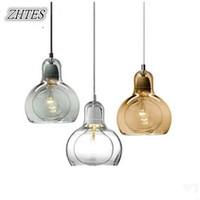 bar minimalista venda por atacado-Dispositivos elétricos de iluminação de vidro da cozinha da lâmpada da barra minimalista moderna do restaurante do pendente do vidro