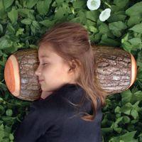 logs de travesseiros venda por atacado-1Piece Madeira Log Pillow / Cepo Wood Texture Throw Pillow No Carro Decorar