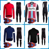 Wholesale rapha bicycle clothing resale online - Rapha team Cycling long Sleeves jersey bib pants sets Ropa Ciclismo Quick Dry Mtb Pro Bicycle Clothing Wear Gel Pad J