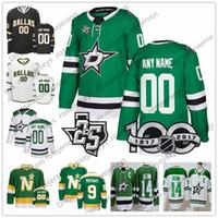 ingrosso stella personalizzata-Personalizzato Dallas Stars Verde bianco Jersey Qualsiasi numero Nome uomo donna gioventù bambino Nero Seguin Benn Bishop 10 Corey Perry 16 Joe Pavelski