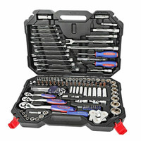Wholesale car spanners resale online - 123PCs Tool Set Hand Car Repair Ratchet Spanner Wrench Socket Set Professional