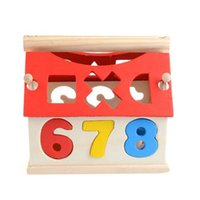 Wholesale digital building blocks for sale - Group buy Kid Wooden Digital House Building Blocks Educational Developmental Toy Kids Intelligence Toys House Model Building Kit B