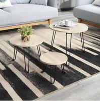 ingrosso tavolo rotondo piegato-Tavolo pieghevole Tavolino in ferro Mini Tavoli rotondi Parlando del lato moderno del salotto con tavolino rotondo