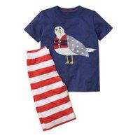 baby kleidung tier anzüge großhandel-Jungen Tier Applique Tops + Hosen Outfits Kinder Mode Kleidung Set Kinder Sport Anzüge Designer Baby Boy Kleidung