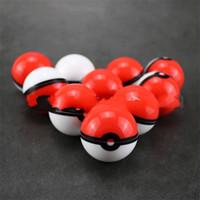kırmızı pikapu toptan satış-6 mi Pikachu Ruh Topu Saklama Kutusu Kırmızı Silikon Taşınabilir Makyaj Kutuları Moda Sıcak Satış 2 75sl UU