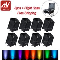 Wholesale battery cover s4 for sale – best 8pcs with rain cover freedom par smart dj s4 uplight for wedding w RGBWA UV WIFI remote control wireless battery powered led uplight