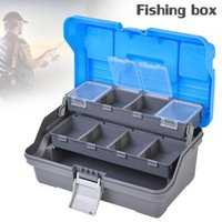 Wholesale leads lures for sale - Group buy 3 Layers Fishing Tackle Box Lures Hooks Lead Safety Clips Anti tangle Fishing Accessories Storage Box