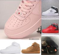 id zapatos deportivos al por mayor-2019 alto forzado ID Air Hombre Zapatillas de correr Para el diseñador blanco negro Mujeres rosa Atlético Deportes Entrenadores fuerzas Zapatos Chaussures 36-45