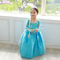 Wholesale girls long tutus for sale - Group buy Halloween baby girls cosplay skirts children costume dress green sequined snowflake kids dresses with long cape