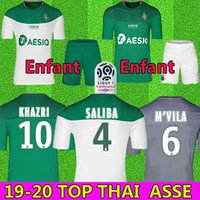 equipamento jersey venda por atacado-19 20 maillot AS Saint Etienne Camisas De Futebol 2019 2020 maillot ASSE Etienne KHAZRI CABELLA BERIC NORDIN HAMOUMA Camisas de futebol