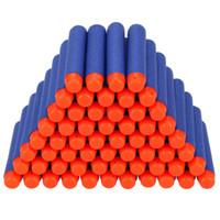 brinquedos azuis venda por atacado-Hot 7.2 cm Para NERF N-Strike Elite Série Recarga Azul Bala de Espuma Macia Darts Gun Toy Bala 100 pcs