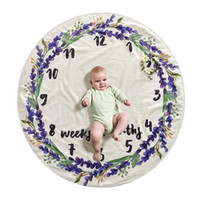 Wholesale round baby blanket for sale - Group buy Cute Baby Infant Milestone Round Delicate Blanket Home Eco friendly Printed Baby Photo Decoration Background Blanket Styles DH0745