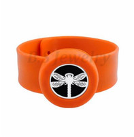 encantos de pulseiras venda por atacado-Libélula Charm Bracelet Kid Jóias Silicone Slap Pulseiras Óleos Essenciais Difusor Pulseira Anti-Mosquito Pulseiras Pulseiras Para Crianças