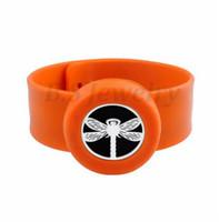 libellenschmuck für großhandel-Libelle Charme Armband Kind Schmuck Silikon Slap Armbänder Ätherische Öle Diffusor Armband Anti-Moskito-Armbänder Armreifen Für Kinder