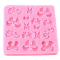 Wholesale decorating small kitchens resale online - ANGRLY DIY Tray Soft Silicone Small Cute Mold Bowknot Shape Cake Decorating Mould Sugarcraft Tool Kitchen Accessories