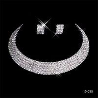 Wholesale accessories resale online - 15035 Charming Wedding Bridal Sets Accessories Jewelry Necklace Earring Set Party Jewelry for Wedding Party Bride