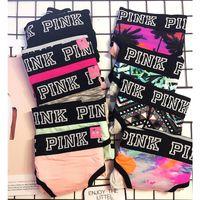 bragas de 12 colores mezclados al por mayor-Lady Sexy Cotton Bragas impresas transpirables suaves escritos para mujeres niñas cintura baja deportes calzoncillos