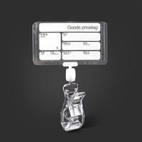 papierklammerhalter großhandel-Klar Kunststoff Supermarkt Produkte Preis und Name Schild Preisschild Schild Papier Kartenhalter mit Double Side Pop Clip